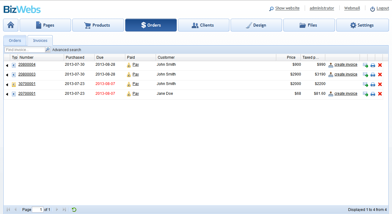 Free Invoice Software For Your Online Store BizWebscom - Free invoice system