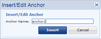 Insert/Edit Anchor