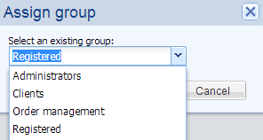 Assign a group