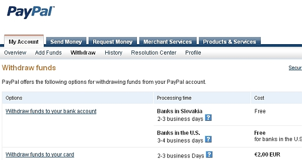 PayPal withdraw money bizwebs.com