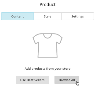 mailchimp choose product template